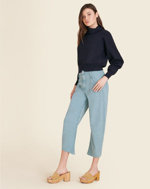 Charlie Barrel Straight-Leg Jean - Teal