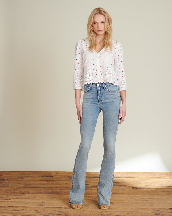 Beverly High-Rise Skinny Flare Jean - Blue Mist