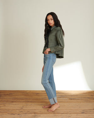 Ryleigh High-Rise Slim-Straight Jean - Waterfall