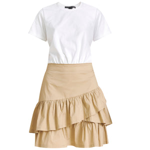 Noha Minidress - White Khaki