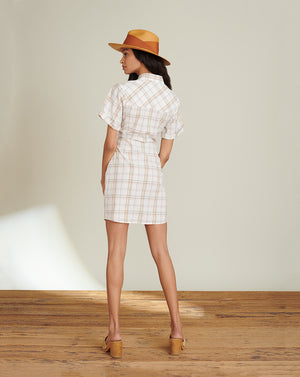 Lora Plaid Minidress - Multi