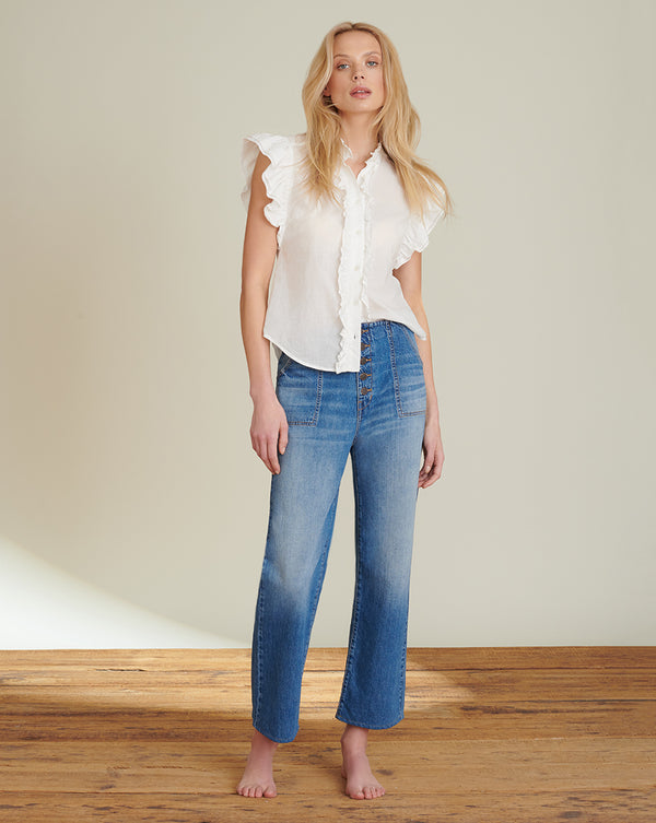 Crosbie Cropped Wide-Leg Jean - Juno