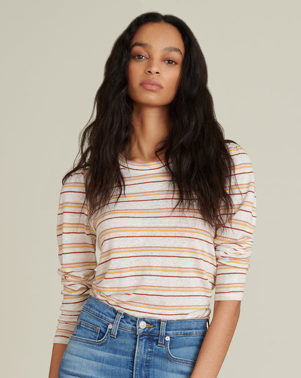 Mason Striped Baseball Tee - Multi