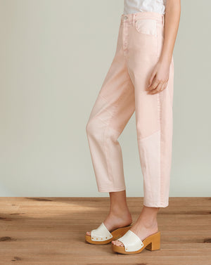 Charlie Barrel Colorblock - Blush Pink