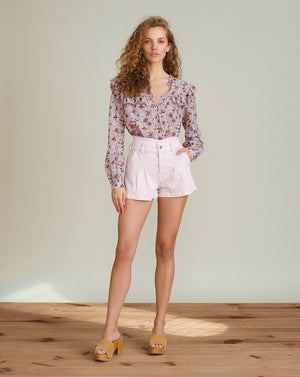 Jaylen Notch-Waist Short - Lavender