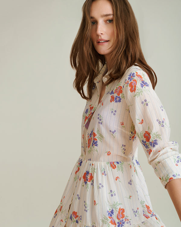 Jemila Shirtdress - Off White Multi