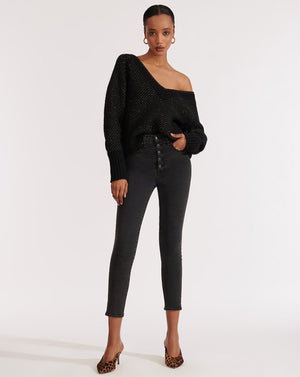 Debbie High-Rise Skinny - Charcoal