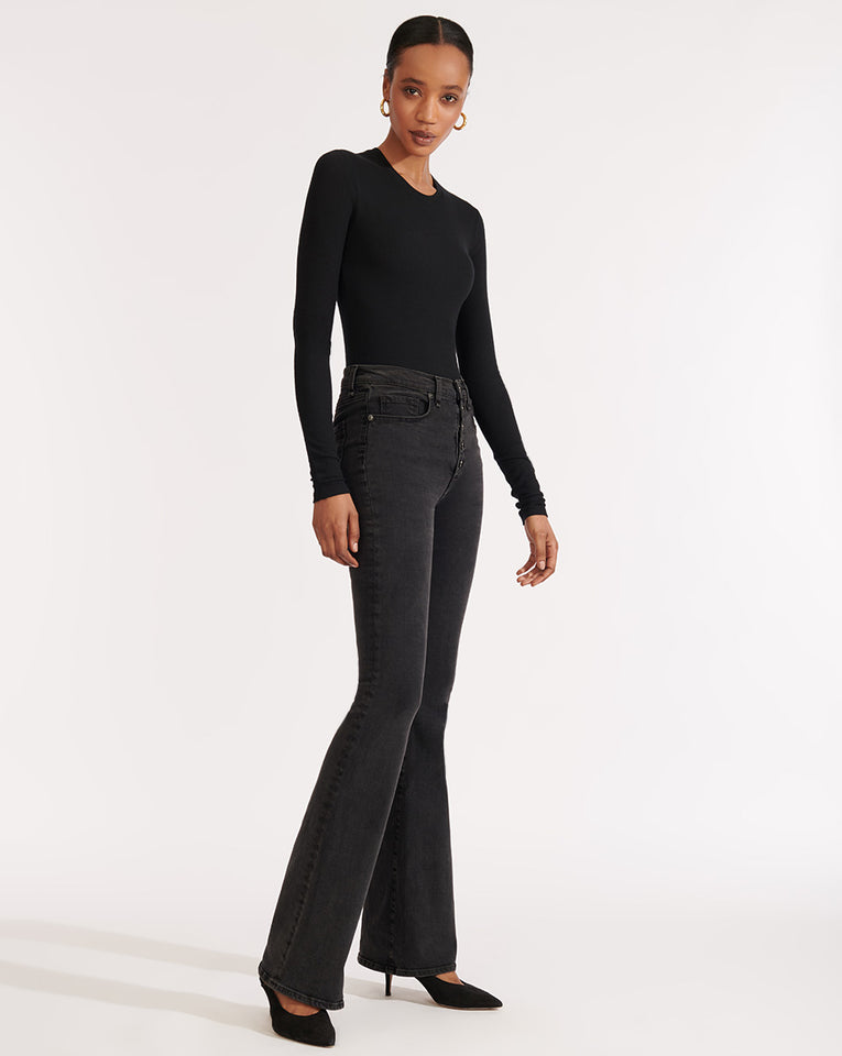 Beverly High Rise Skinny Flare - Charcoal