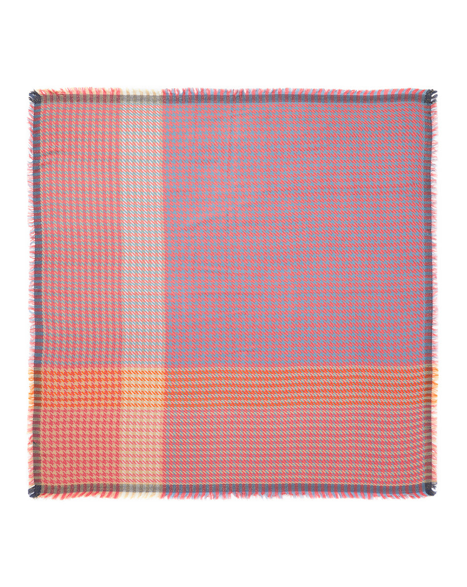 The Houndstooth Square - Pink Multi