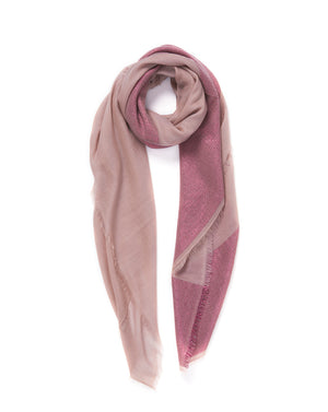 The Block Square Scarf - Mauve