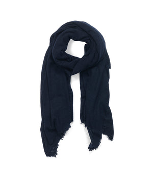 The Luxe Cashmere Wrap - Navy