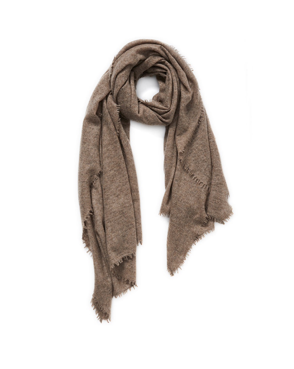 The Luxe Cashmere Wrap - Brown Melange