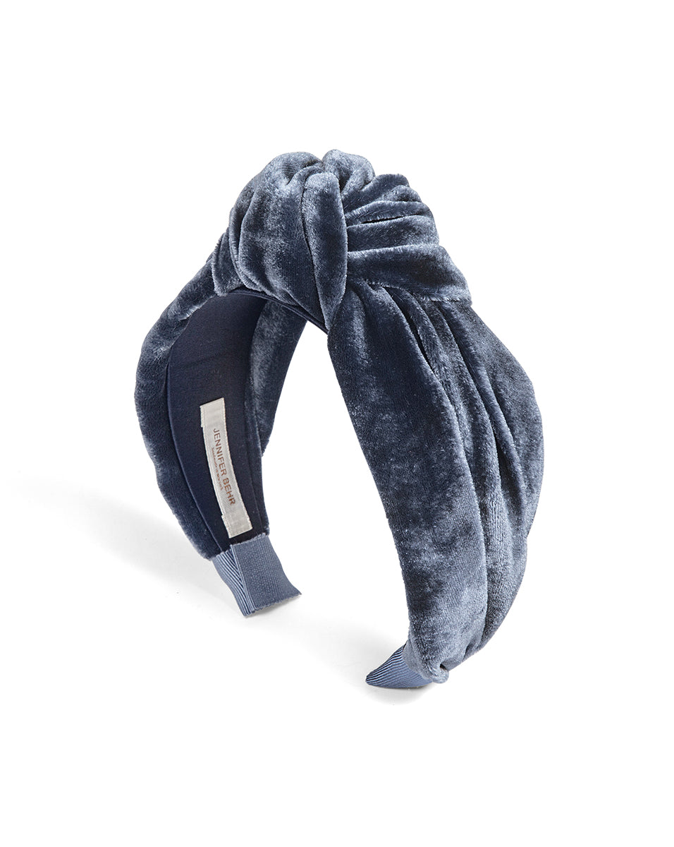 Ophelia Headband In Velvet - Denim
