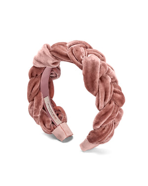 Lorelei Headband In Velvet - Blush