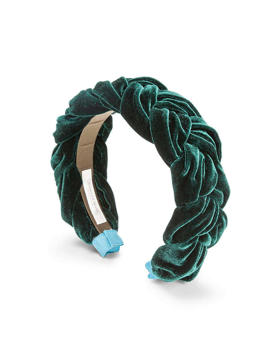Lorelei Headband In Velvet - Emerald