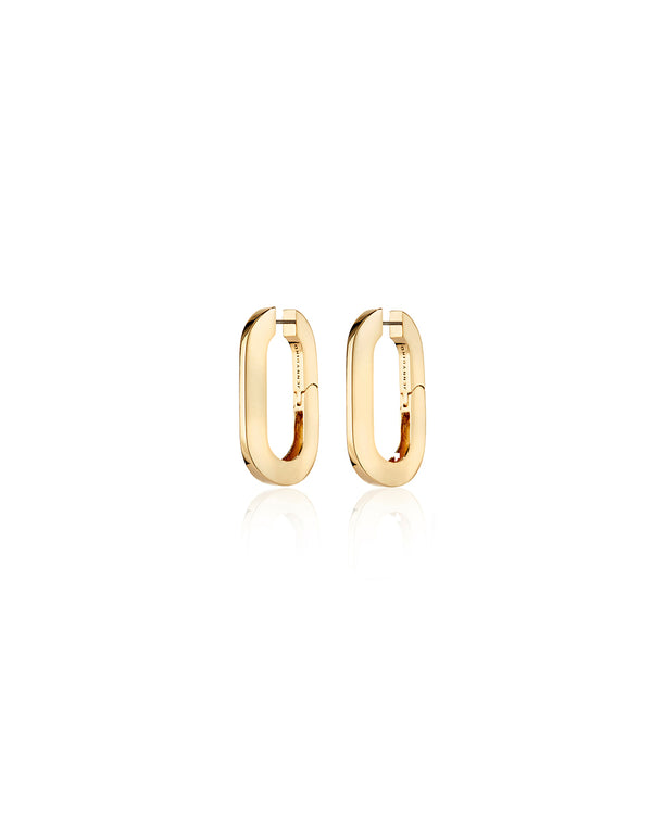 Mega U-Link Earrings - Gold