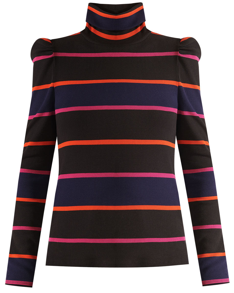 Cedar Turtleneck - Black Multi