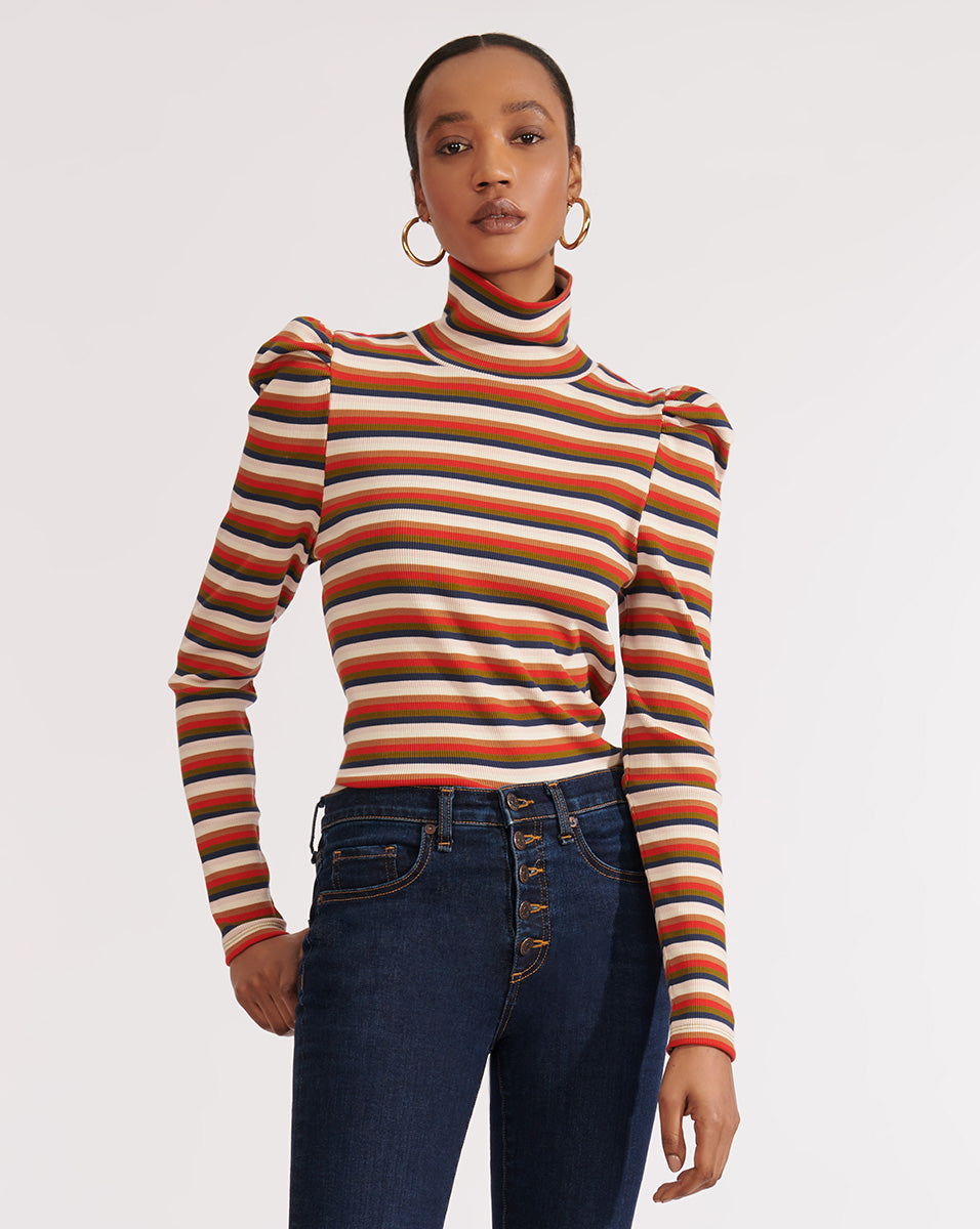 Cedar Turtleneck - Army Multi