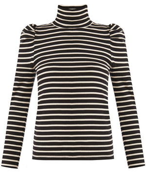 Cedar Turtleneck - Ivory/black