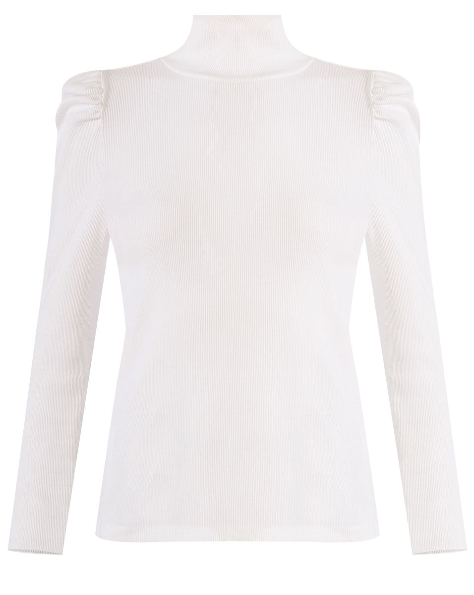 Cedar Turtleneck - White