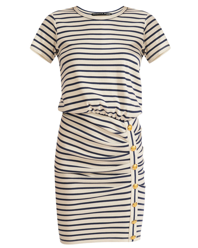 Cortland Mini Dress - Navy/ivory