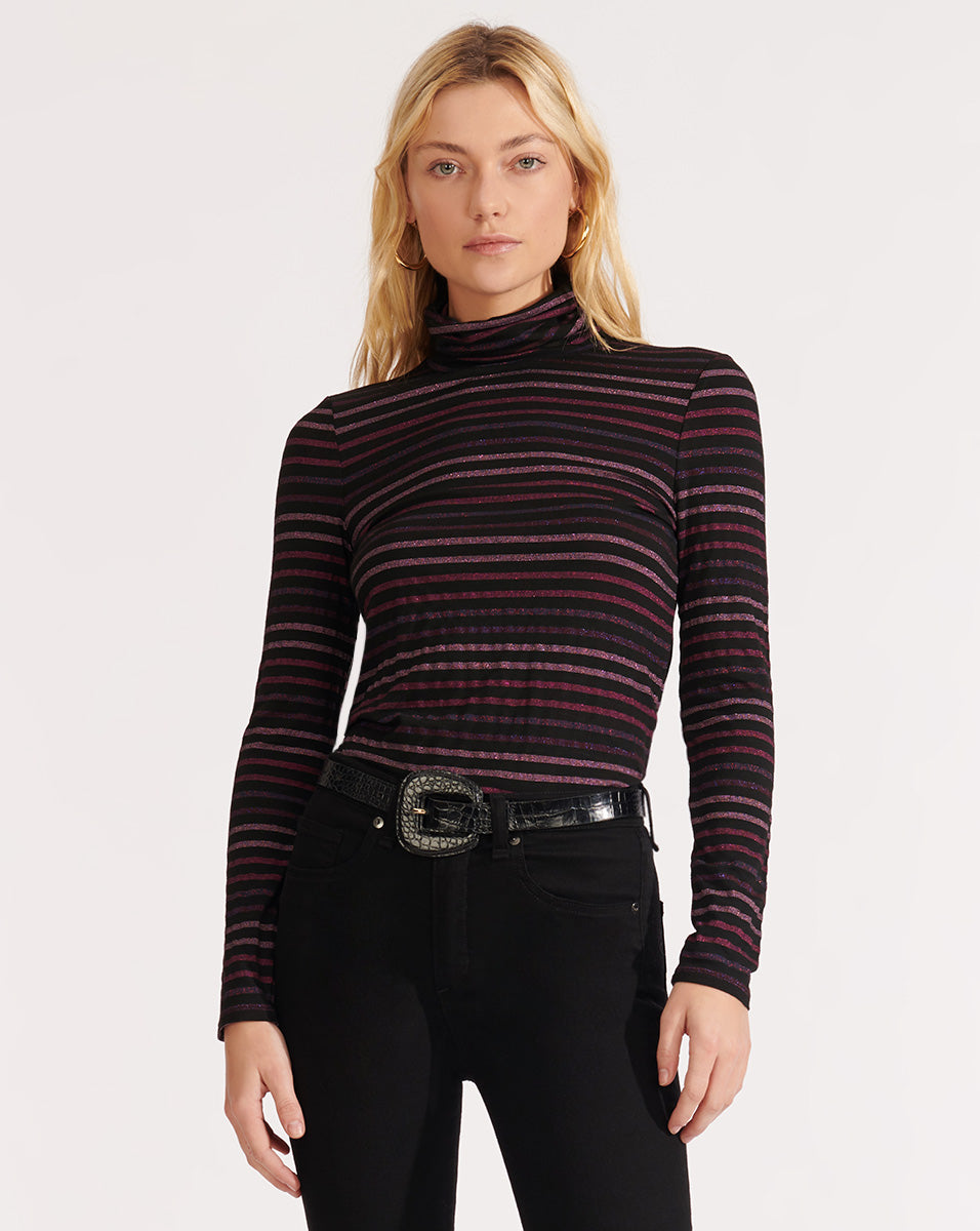Audrey Turtleneck - Fuschia Multi