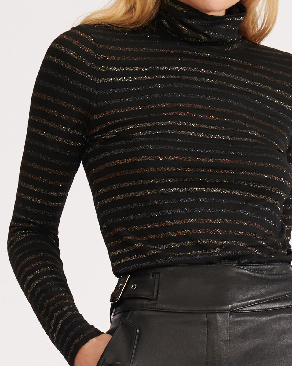 Audrey Turtleneck - Metallic Multi