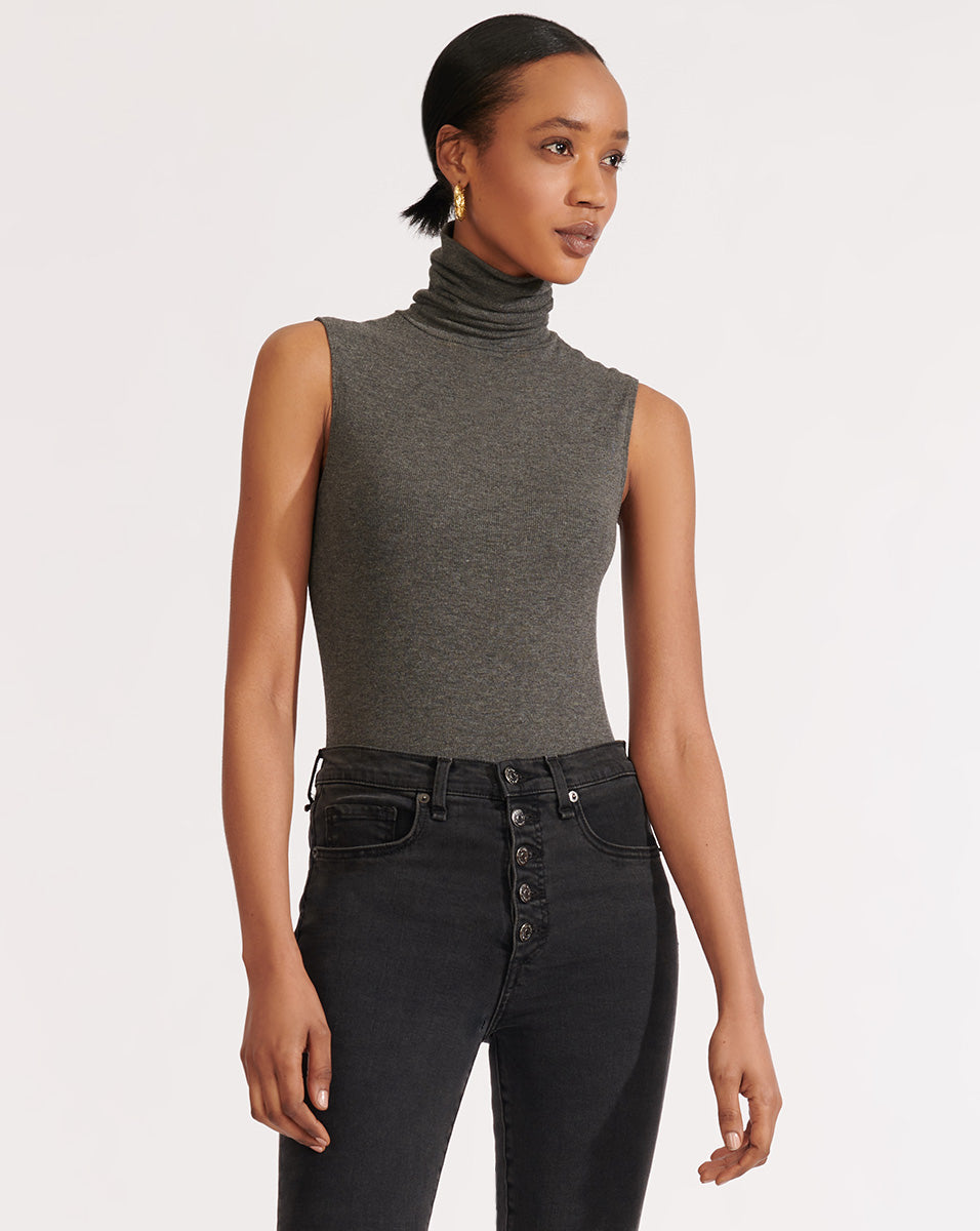 Zea Bodysuit - Charcoal