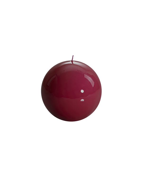 Ball Candle - Burgundy