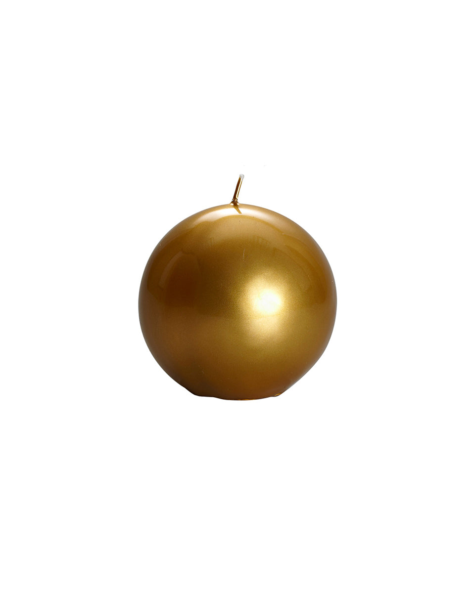 Metallic Ball Candle - Gold