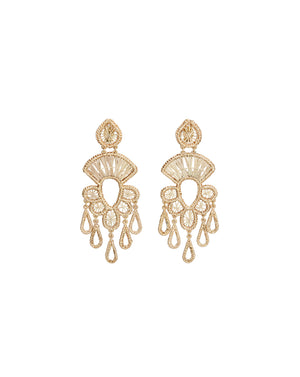 Golden Chandelier Earrings - Natural