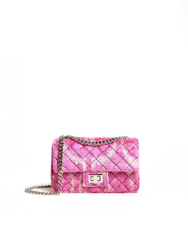 Mini Velvet Bandita Bag - Pink