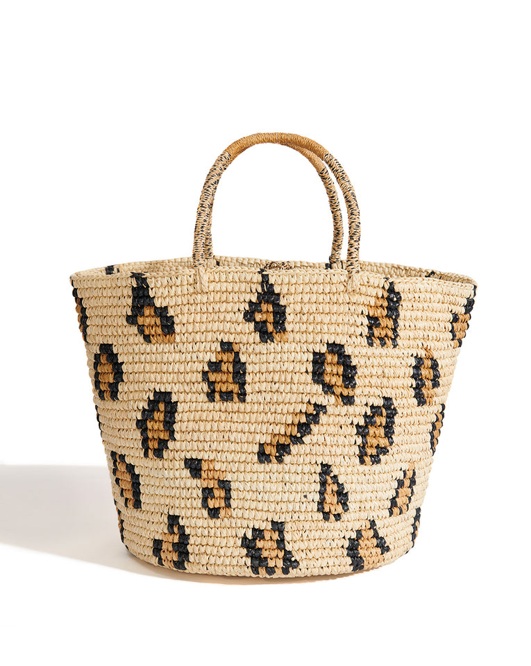 Leopard Straw Bag - Leopard