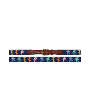 Dancing Bears Belt - Dark Navy