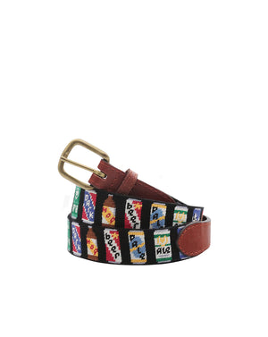 Beer Cans Belt - Black