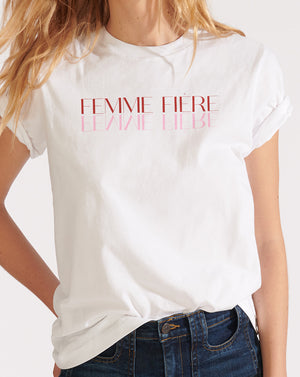 Femme Fiére Tee - White
