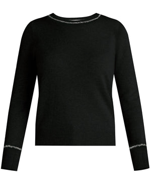 Zalga Cashmere Sweater - Black