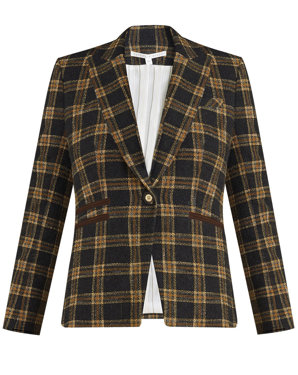 Gia Plaid Dickey Jacket - Black/natural