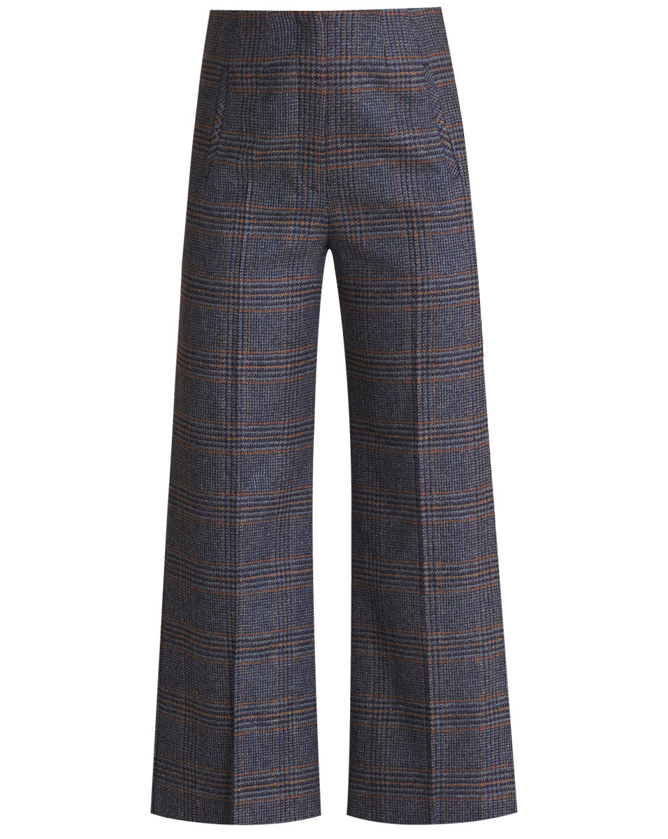 Dova Plaid Pant - Navy Multi