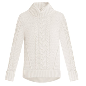 Sereia Cable-Knit Sweater - Ivory
