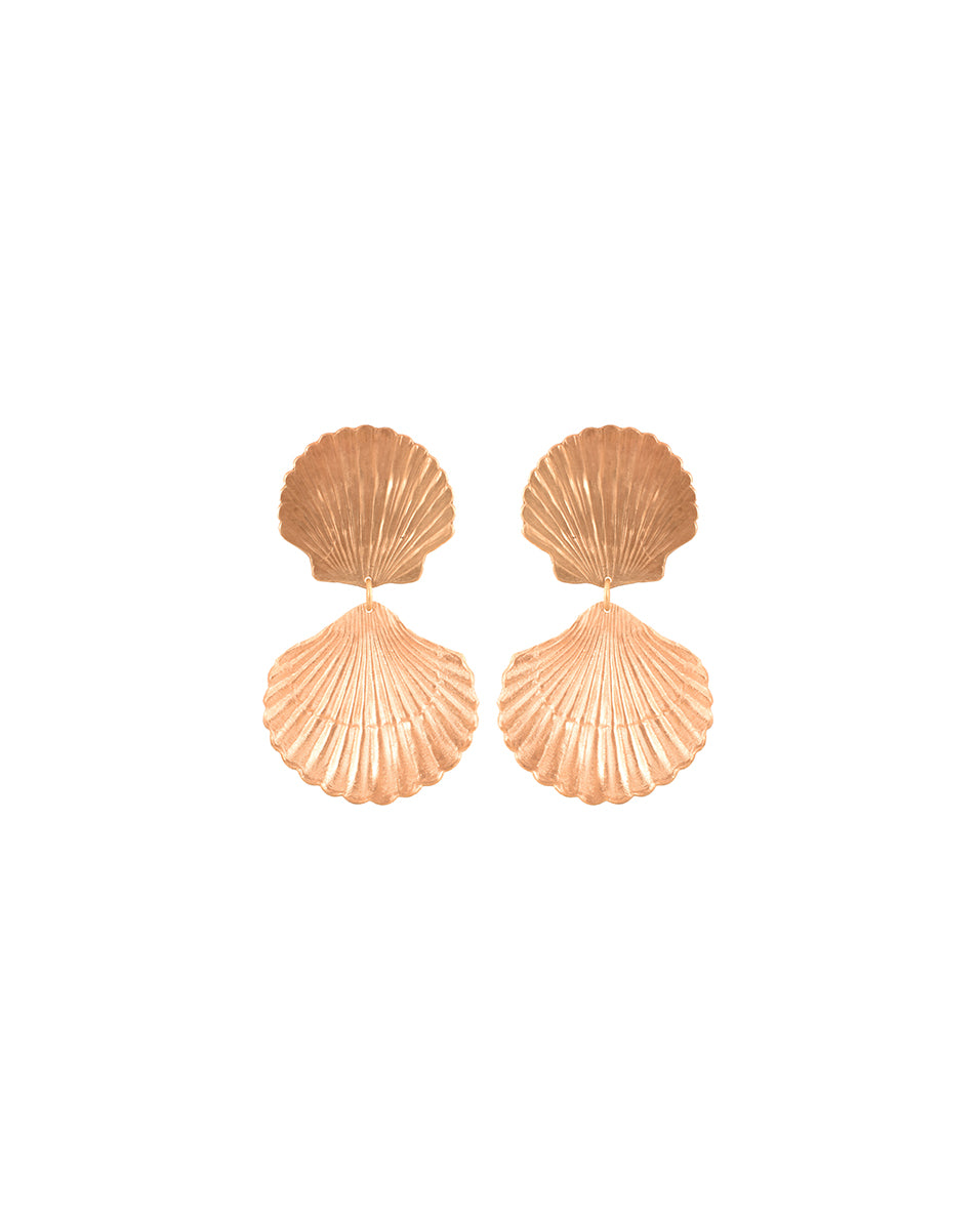 Seychelles Shell Earrings - Gold
