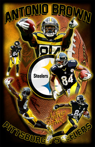 "Antonio Brown ""Collage"" D-1"
