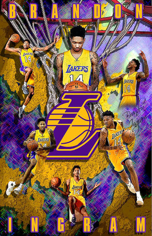 "Brandon Ingram ""Collage"" D-1 (Print)"