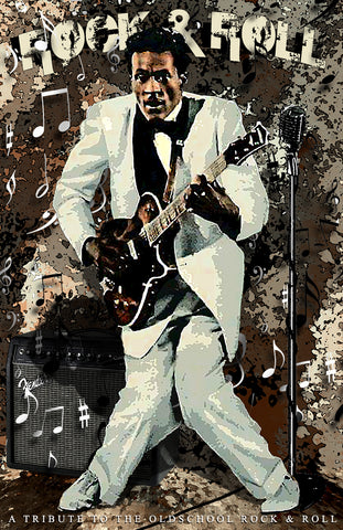"Chuck Berry ""Rock And Roll""  D-4"