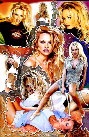 "Pam Anderson ""Collage"" D-1 (Print)"