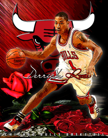 "Derrick Rose ""Roses Are Red""  D-1 (Print)"