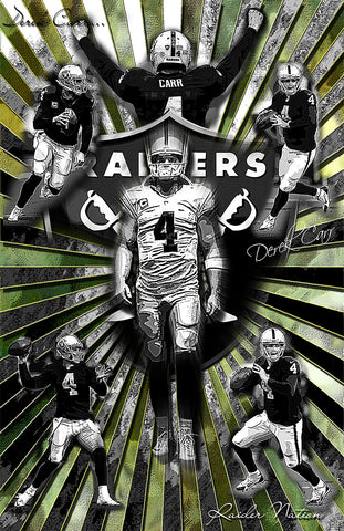 "Derek Carr  ""Collage"" D-1"
