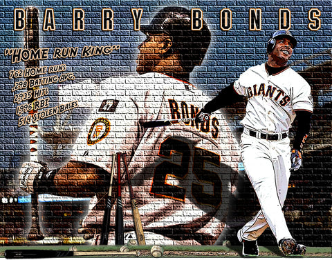 "Barry Bonds ""Home Run King""  D-1 (Print)"