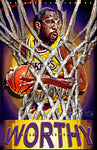 "James Worthy ""Big Game"" D-2 (Print)"