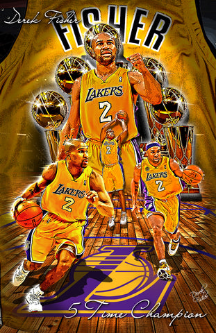 "Derek Fisher ""5 Time Champion"" D-2"
